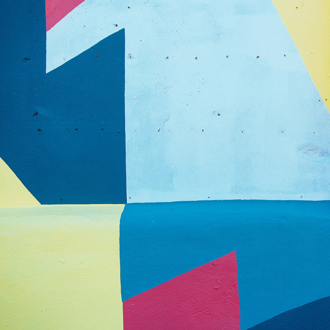 Colourful abstract wall